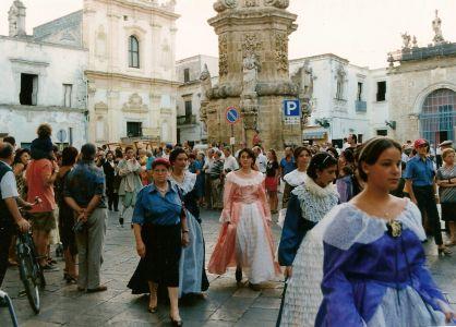 Piazza Salandra durante il corteo storico