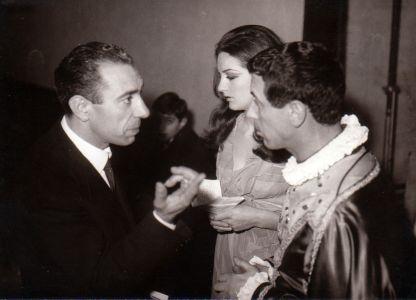 Paolo Zacchino con Cino Tortorella - Mago Zurlì - anni 60